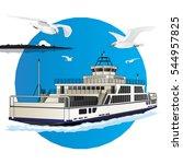 ferry istanbul vector.   Shutterstock .eps vector #544957825