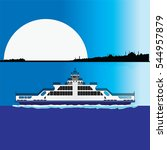 ferry istanbul vector. | Shutterstock .eps vector #544957879
