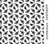 black and white seamless... | Shutterstock .eps vector #544958299
