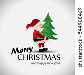 santa claus greeting card  ... | Shutterstock .eps vector #544968469
