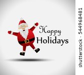 santa claus greeting card  ... | Shutterstock .eps vector #544968481