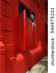 Small photo of Shophouses along Asia street Singapore commercial buildings heritage