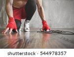 boxer jump rope training ... | Shutterstock . vector #544978357