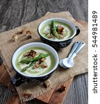 asparagus cream soup with... | Shutterstock . vector #544981489