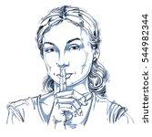 art drawing  portrait of... | Shutterstock . vector #544982344