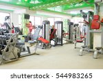interior of a fitness hall with ... | Shutterstock . vector #544983265