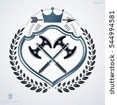 vintage decorative heraldic... | Shutterstock . vector #544994581