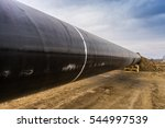 construction of gas pipeline... | Shutterstock . vector #544997539