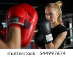 young athletes trains in boxing | Shutterstock . vector #544997674