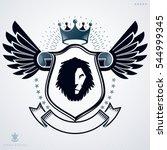 emblem  vintage heraldic design. | Shutterstock . vector #544999345