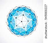 abstract 3d faceted figure with ... | Shutterstock . vector #545003227