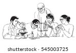 young scientists working in... | Shutterstock .eps vector #545003725