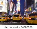 Yellow Taxi In Time Square  New ...