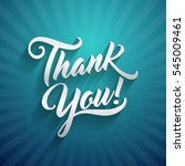 thank you beautiful lettering... | Shutterstock . vector #545009461