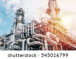 industrial zone the equipment... | Shutterstock . vector #545016799