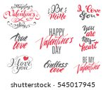 happy valentines day and love... | Shutterstock .eps vector #545017945
