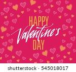 happy valentines day... | Shutterstock .eps vector #545018017