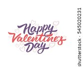 happy valentines day lettering...   Shutterstock .eps vector #545020231