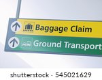 baggage claim and ground... | Shutterstock . vector #545021629