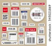 barcode packaging business...   Shutterstock .eps vector #545021869