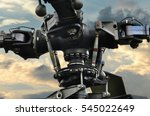 rotor helicopter clouds close up | Shutterstock . vector #545022649