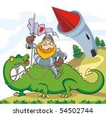 Knight On Dragon