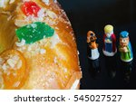 detail on a kings cake and... | Shutterstock . vector #545027527