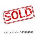 rubber stamp with the word sold ... | Shutterstock .eps vector #545028181