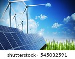Renewable Energy Concept With...