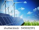 renewable energy concept with... | Shutterstock . vector #545032591