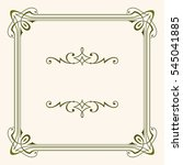 decorative frame | Shutterstock .eps vector #545041885