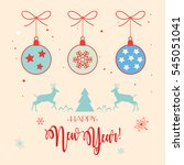 happy new year greeting card... | Shutterstock .eps vector #545051041