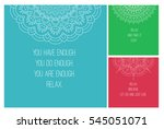 mandala national ornament. set... | Shutterstock .eps vector #545051071