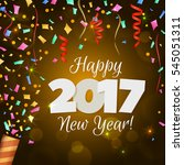happy new year 2017 greeting... | Shutterstock .eps vector #545051311