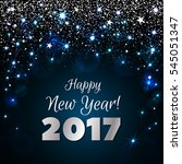 happy new year 2017 greeting... | Shutterstock .eps vector #545051347