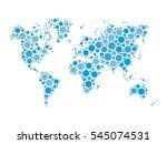 world map mosaic of blue dots... | Shutterstock .eps vector #545074531