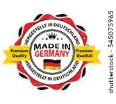 made in germany. premium... | Shutterstock .eps vector #545075965