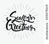 season greetings typography art ... | Shutterstock .eps vector #545079019