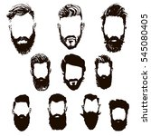 hipster hair and beards  hand... | Shutterstock .eps vector #545080405