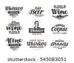 menu  alcoholic drinks. vector... | Shutterstock .eps vector #545083051