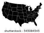 united states vector map made... | Shutterstock .eps vector #545084545