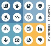 set of 16 simple impasse icons. ... | Shutterstock .eps vector #545089879