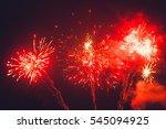 beautiful firework display for...   Shutterstock . vector #545094925
