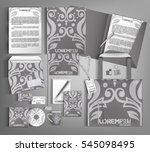 corporate identity template... | Shutterstock .eps vector #545098495