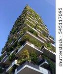vertical forest  milan  porta... | Shutterstock . vector #545117095