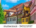 colorful facades of houses in... | Shutterstock . vector #545121937