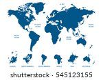 blue world map vector on white... | Shutterstock .eps vector #545123155