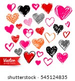 vector hand drawn collection of ... | Shutterstock .eps vector #545124835