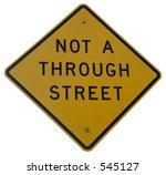 Not A Through Street Sign