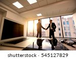 handshake. conclusion of the... | Shutterstock . vector #545127829
